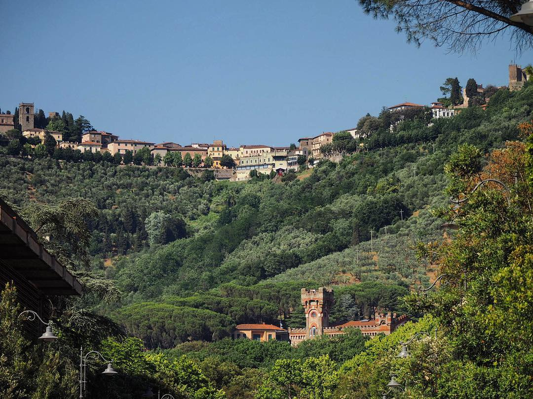 view of the old montecatini from montecatini terme