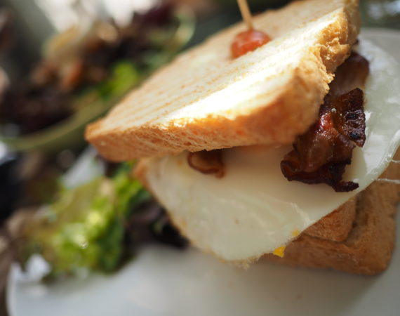 Silver Pot Cafe is part of restaurant list in my what to do in Nicosia for a weekend article. In this picture is a BLT brunch sandwich.