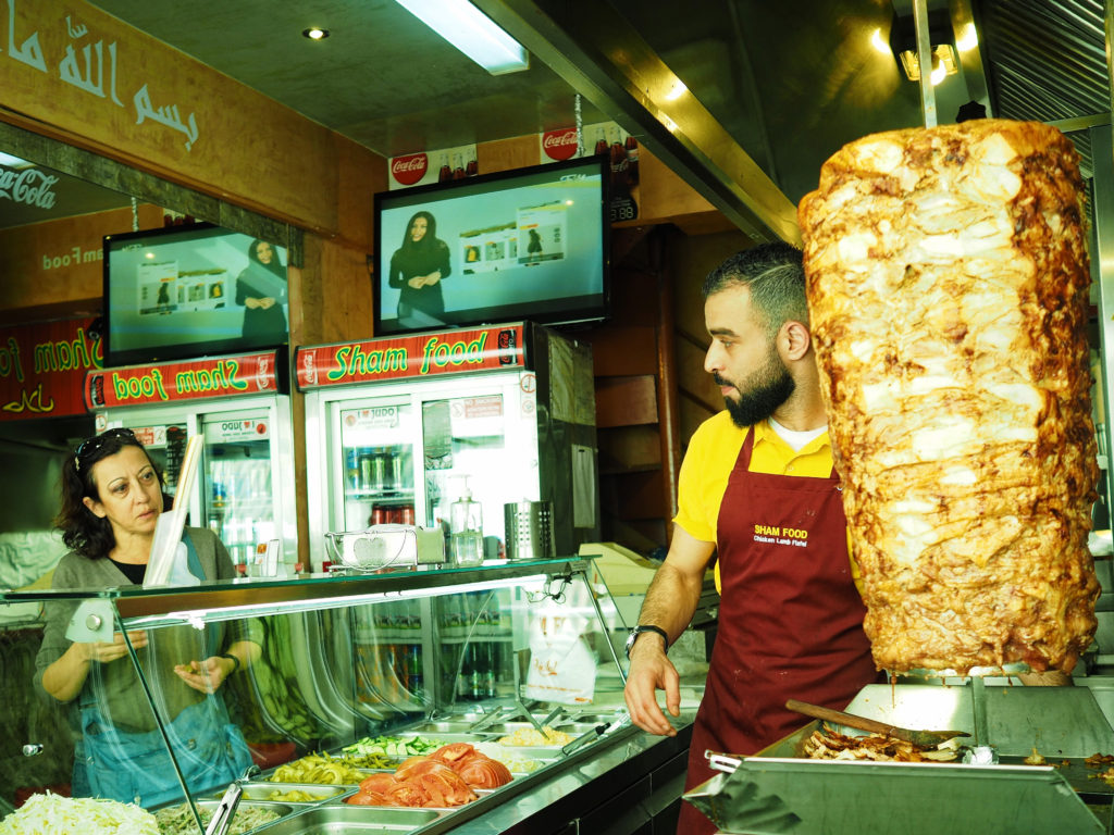 What to do in Nicosia, eat shawarma at Sham Food.