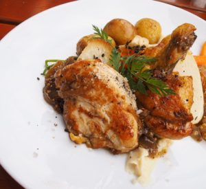 Eating local in Dresden with a perfect roast chicken at Bohme