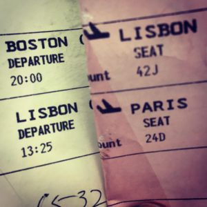 Airline tickets from Boston to Lisbon and Paris